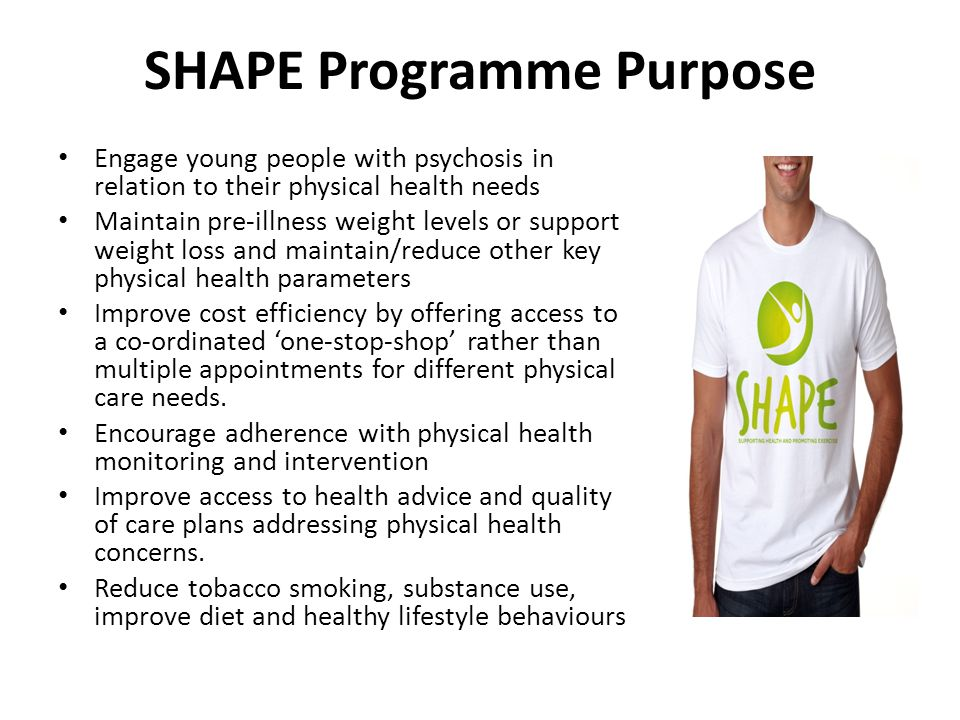SHAPE Programme Purpose