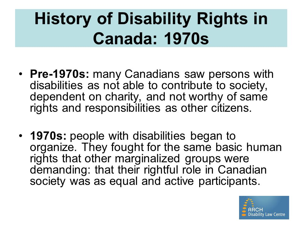 History of Disability Rights in Canada: 1970s