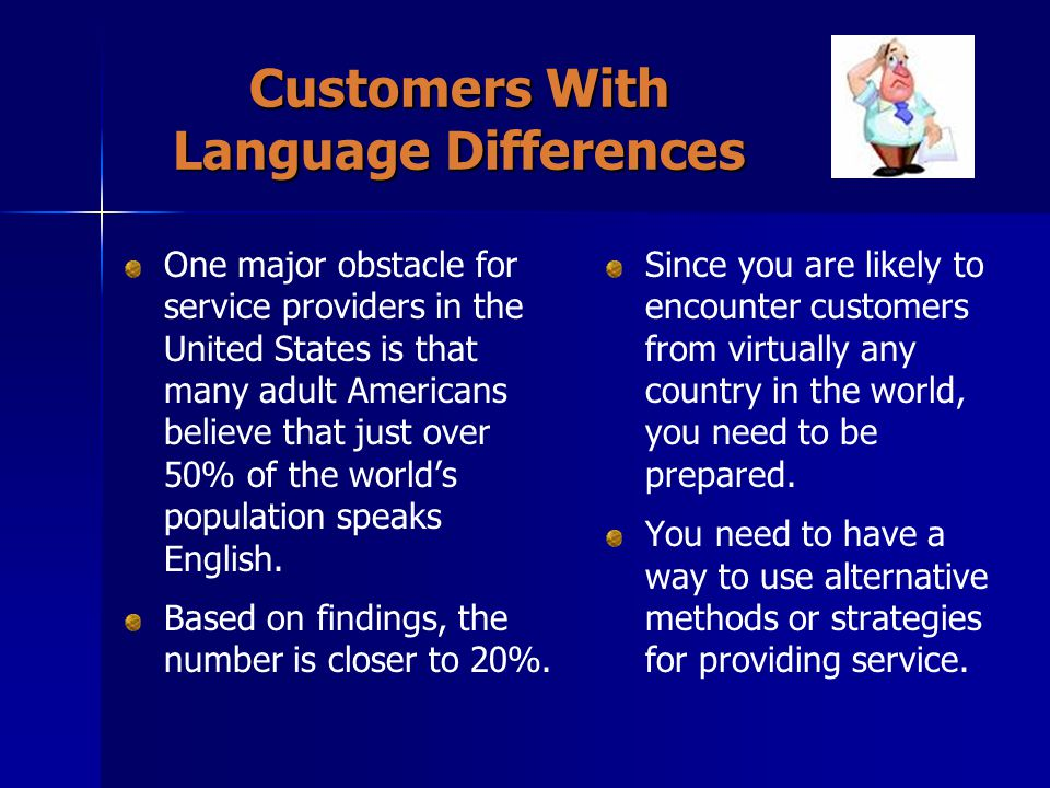 Customers With Language Differences