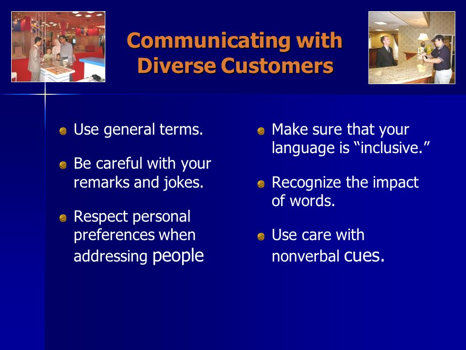 Communicating with Diverse Customers
