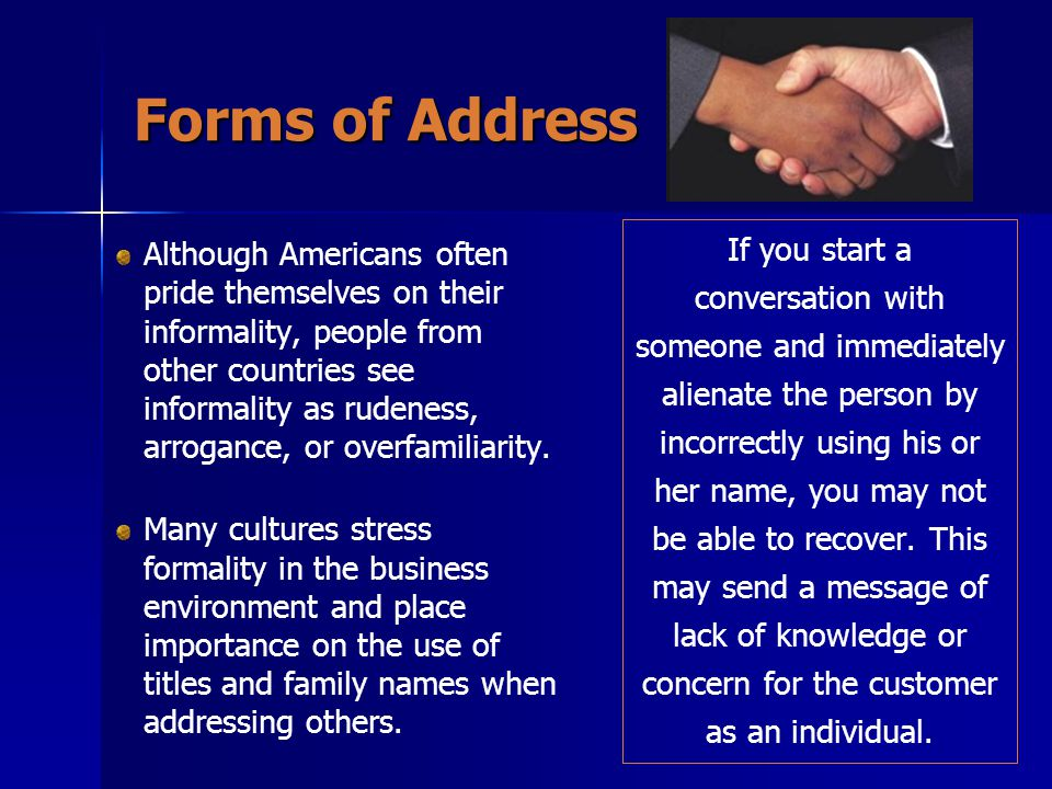 Forms of Address