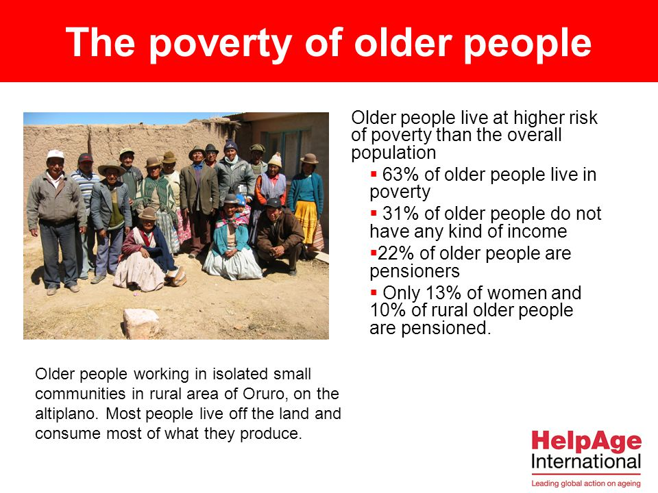 The poverty of older people