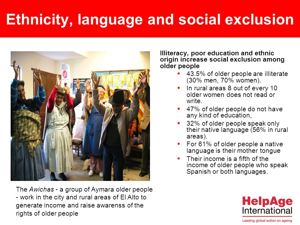 Ethnicity, language and social exclusion