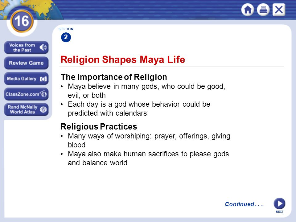 Religion Shapes Maya Life