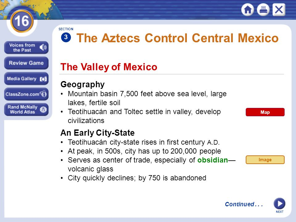 The Aztecs Control Central Mexico