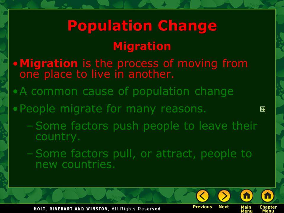 Population Change Migration