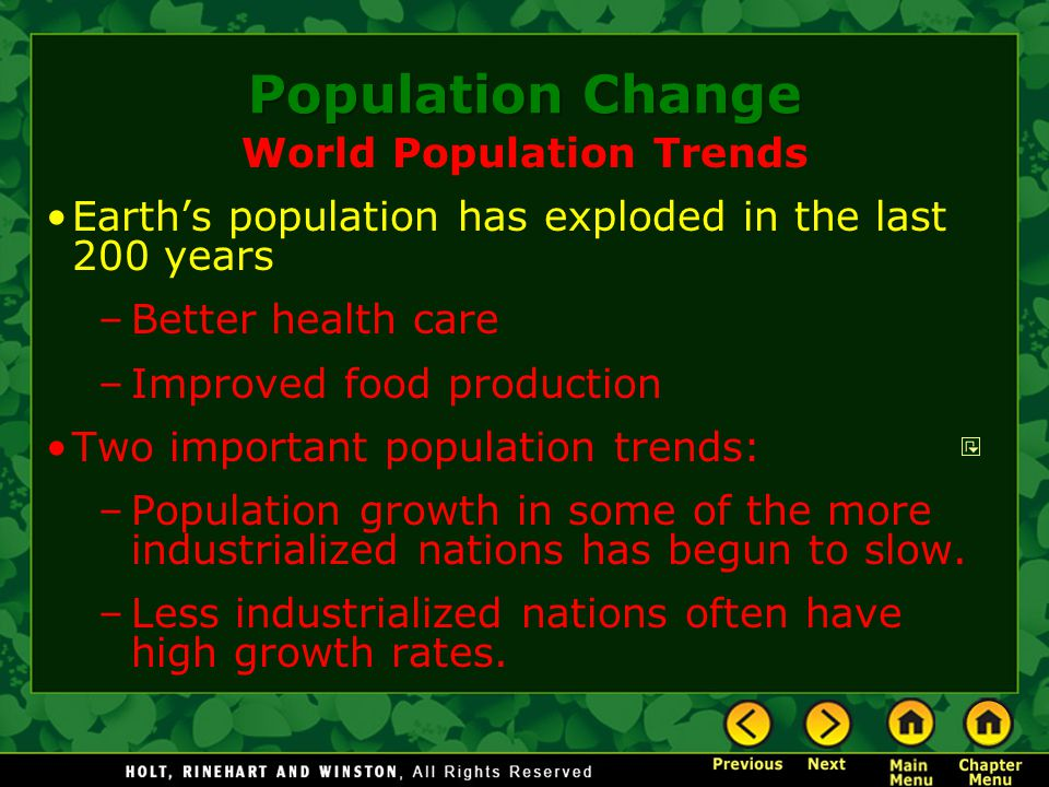 World Population Trends