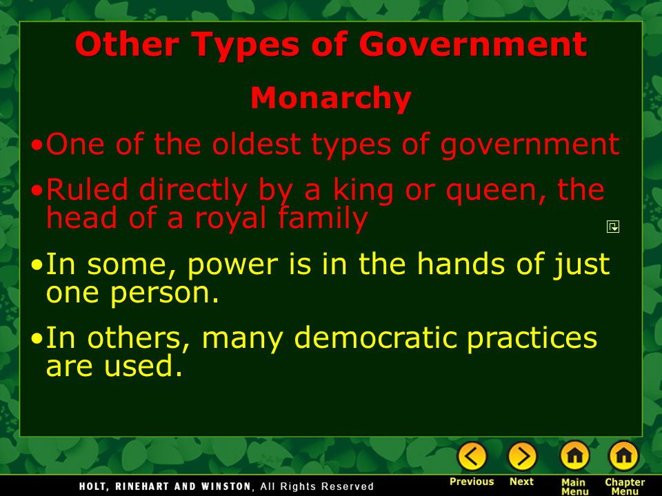 Other Types of Government