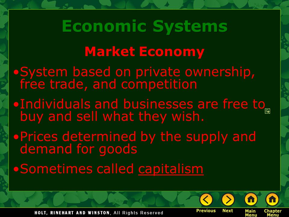 Economic Systems Market Economy