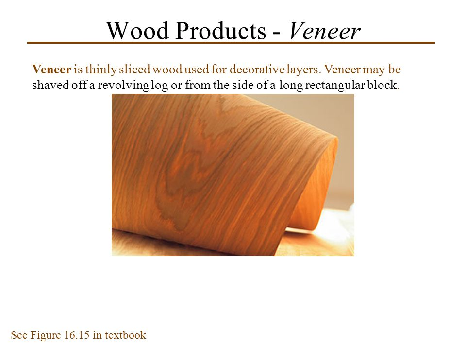 Wood Products - Veneer