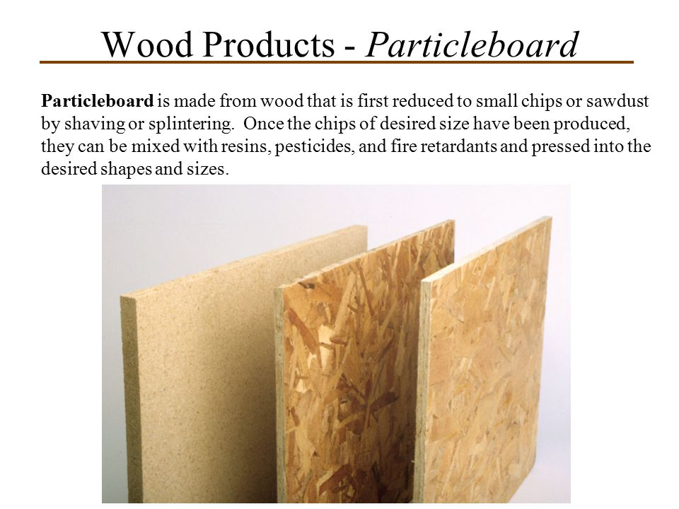 Wood Products - Particleboard