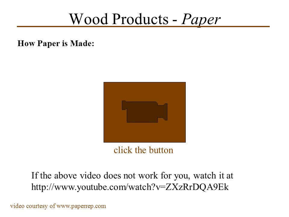 Wood Products - Paper click the button