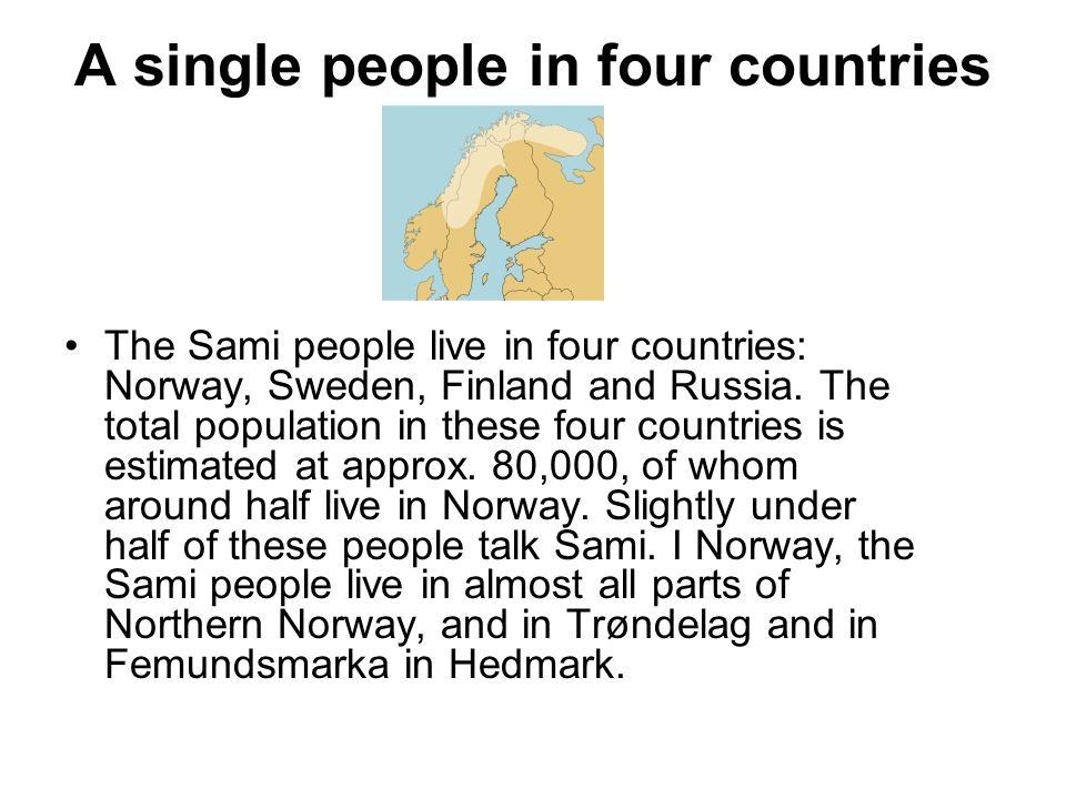 A single people in four countries