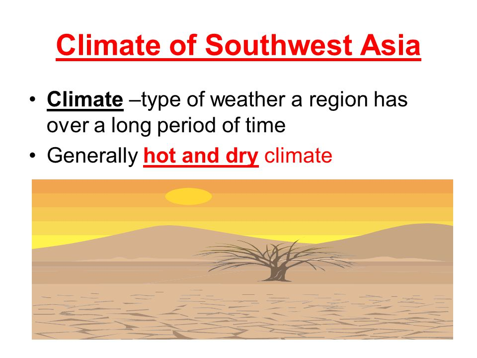 Climate of Southwest Asia