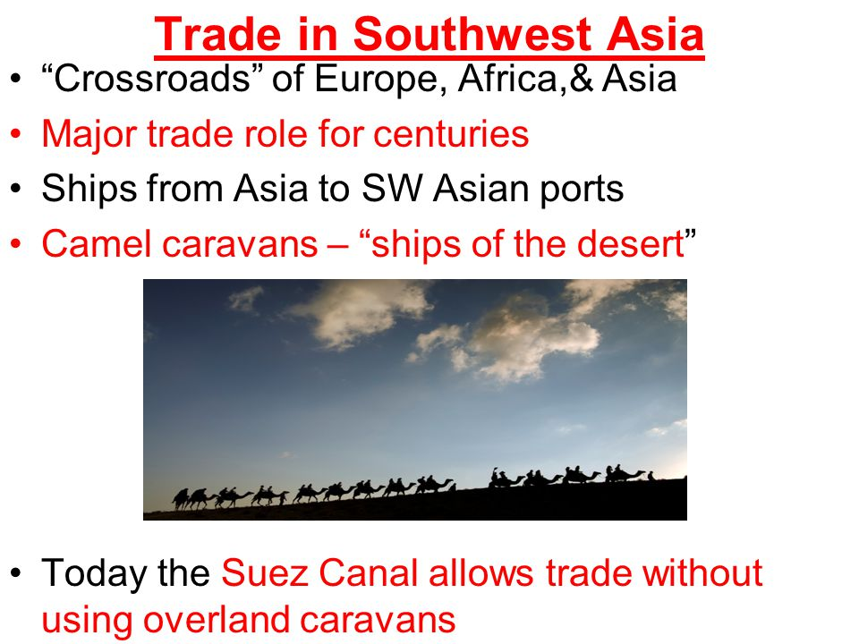Trade in Southwest Asia
