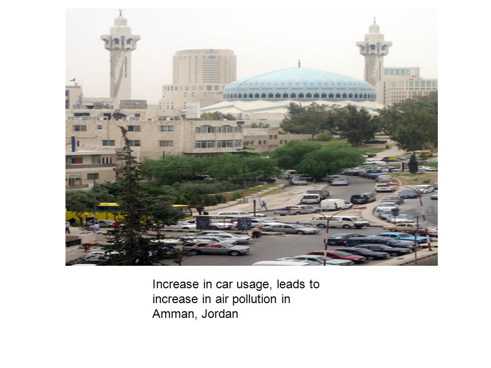 Increase in car usage, leads to increase in air pollution in Amman, Jordan