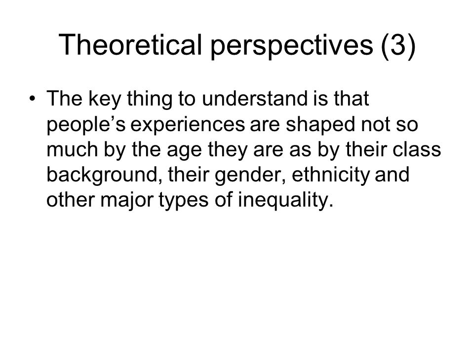 Theoretical perspectives (3)