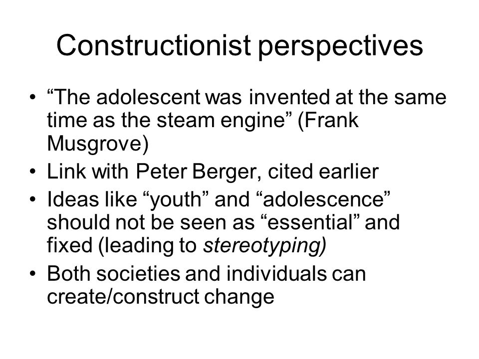 Constructionist perspectives
