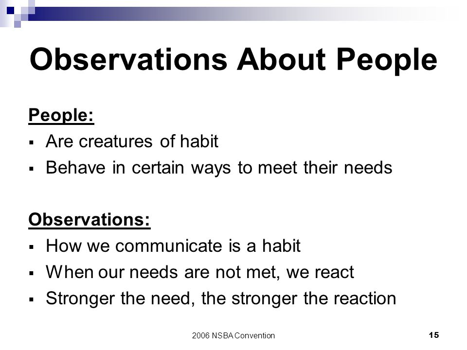 Observations About People
