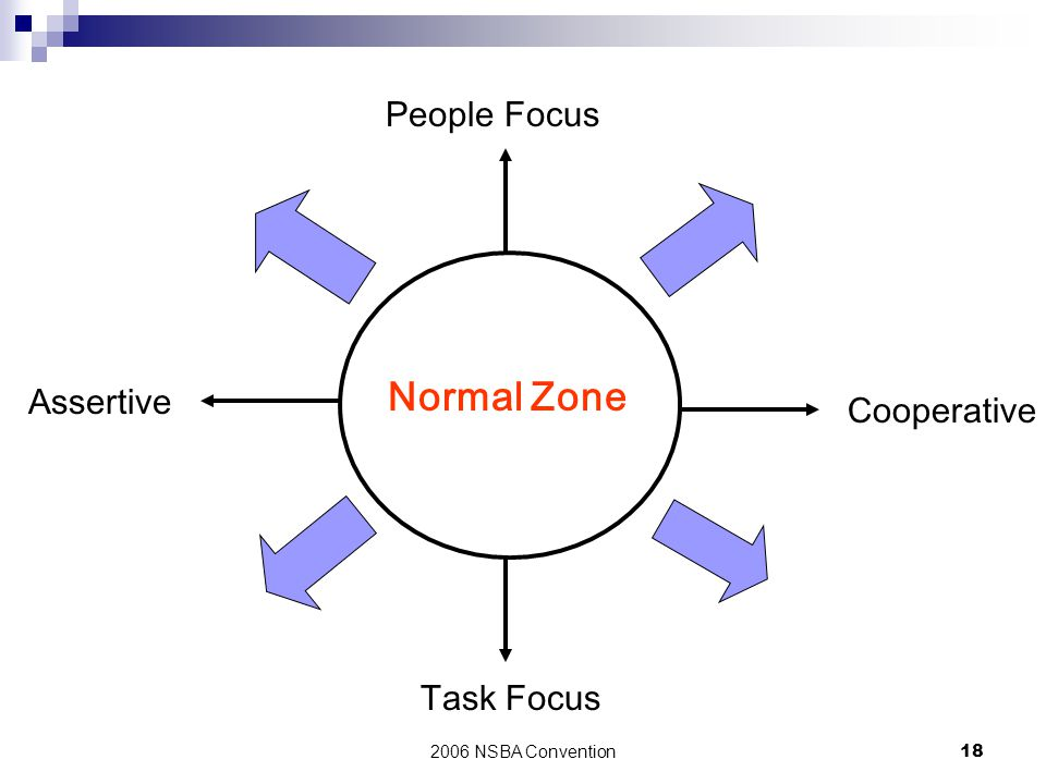 Normal Zone People Focus Assertive Cooperative Task Focus