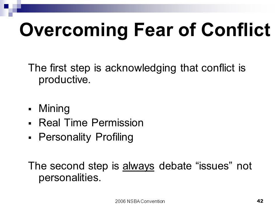Overcoming Fear of Conflict