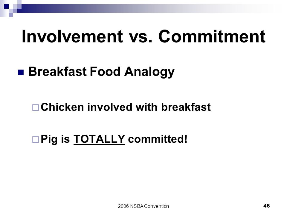 Involvement vs. Commitment