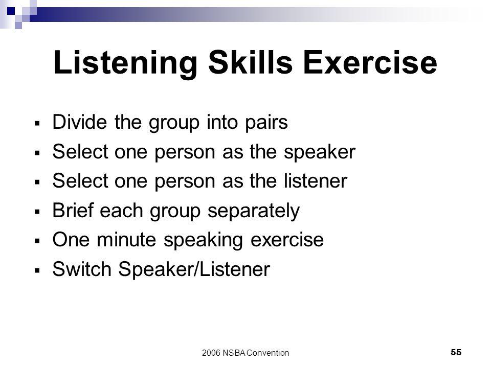 Listening Skills Exercise