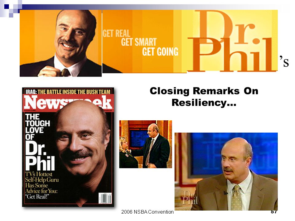 Closing Remarks On Resiliency…