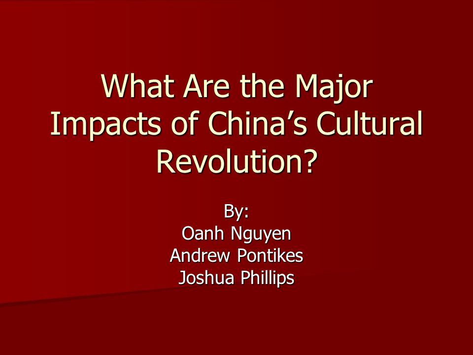What Are the Major Impacts of China's Cultural Revolution