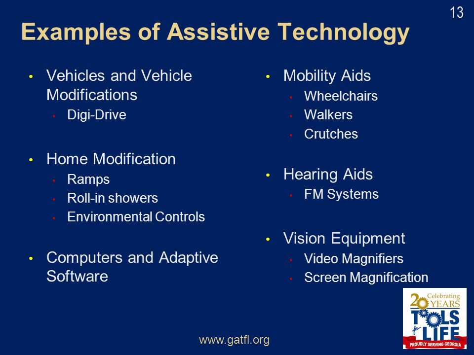 Examples of Assistive Technology