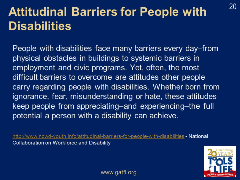 Attitudinal Barriers for People with Disabilities