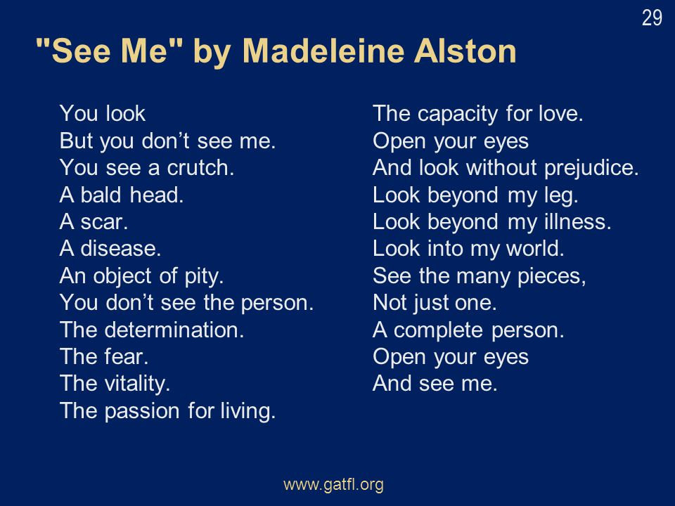 See Me by Madeleine Alston