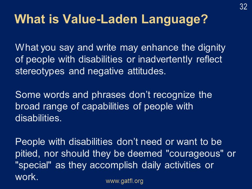 What is Value-Laden Language
