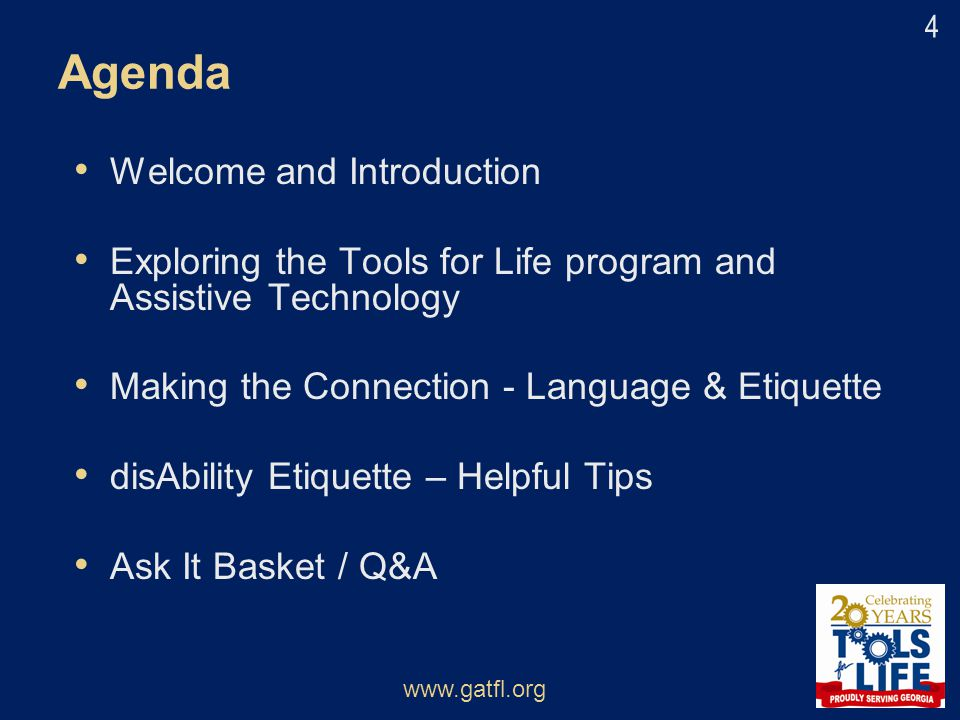 Agenda Welcome and Introduction