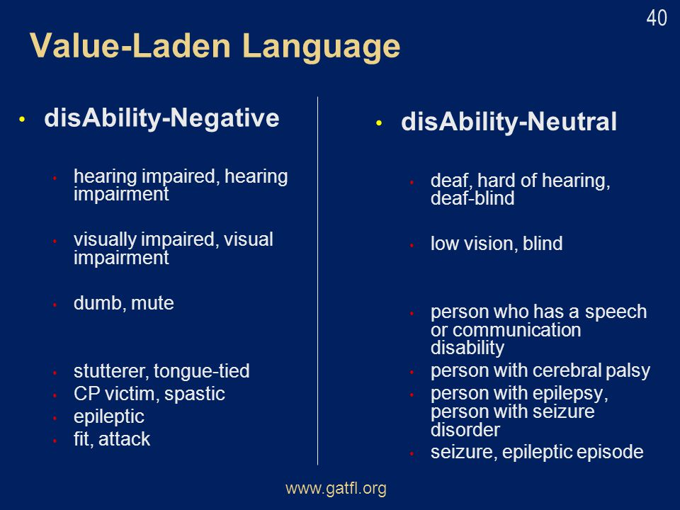 Value-Laden Language disAbility-Negative disAbility-Neutral