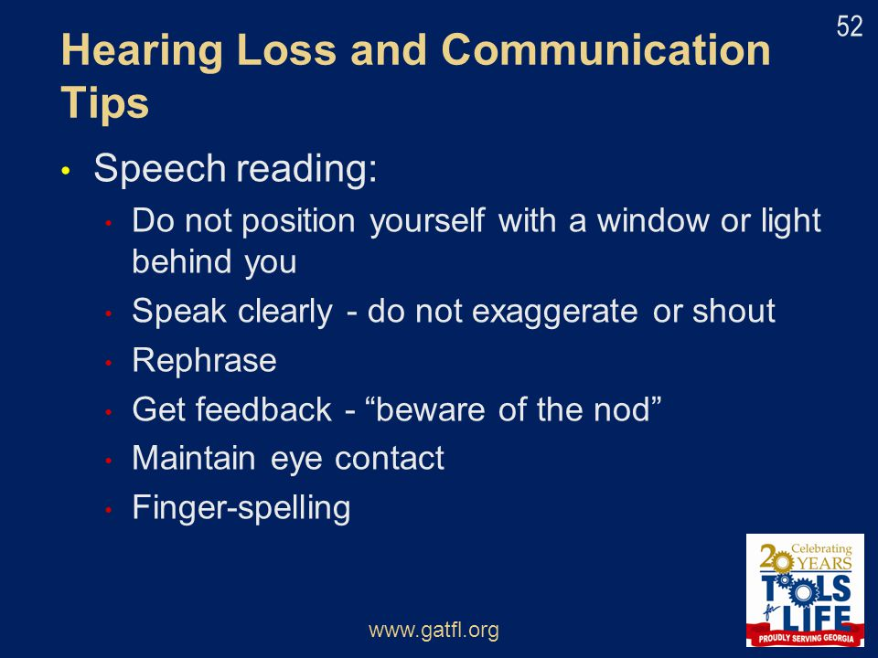 Hearing Loss and Communication Tips