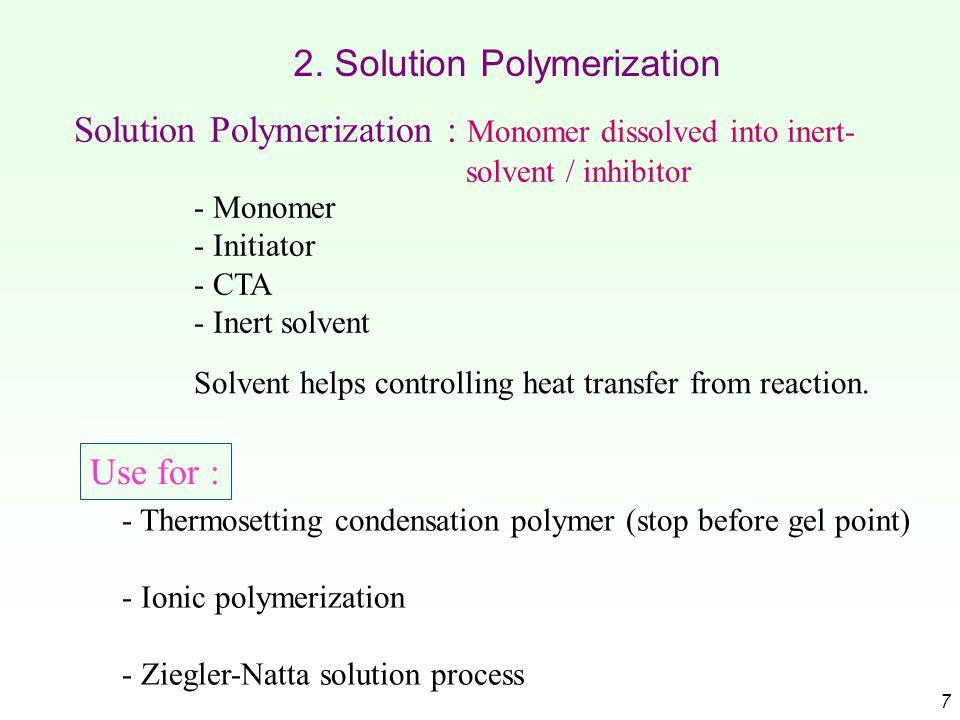 2. Solution Polymerization