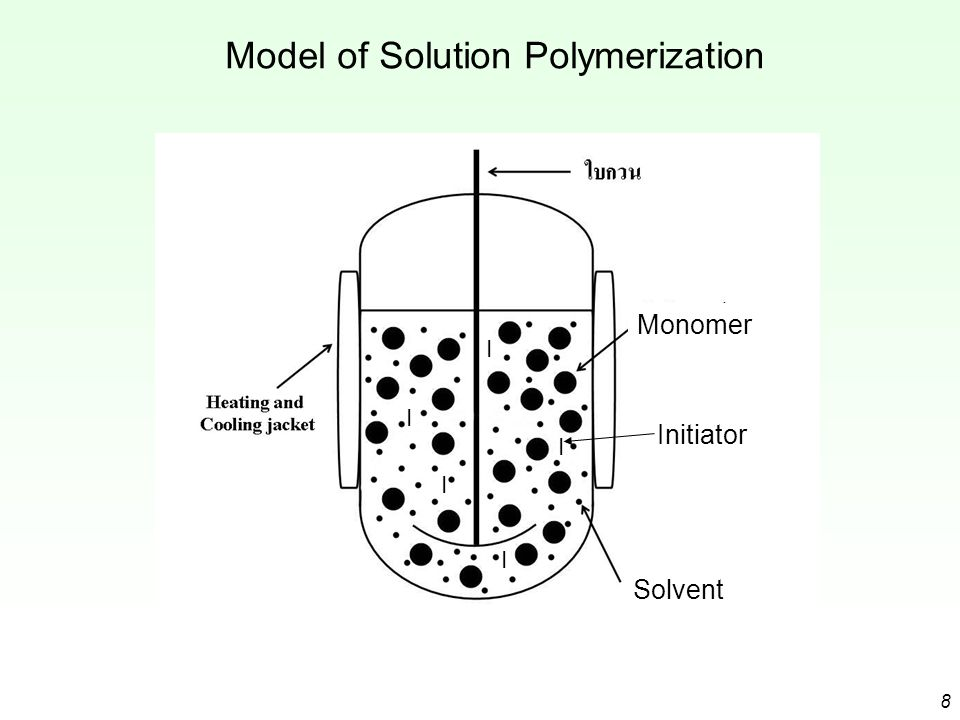Model of Solution Polymerization