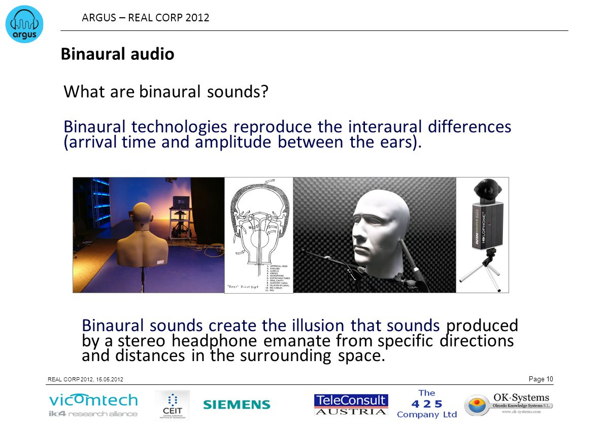 Binaural audio