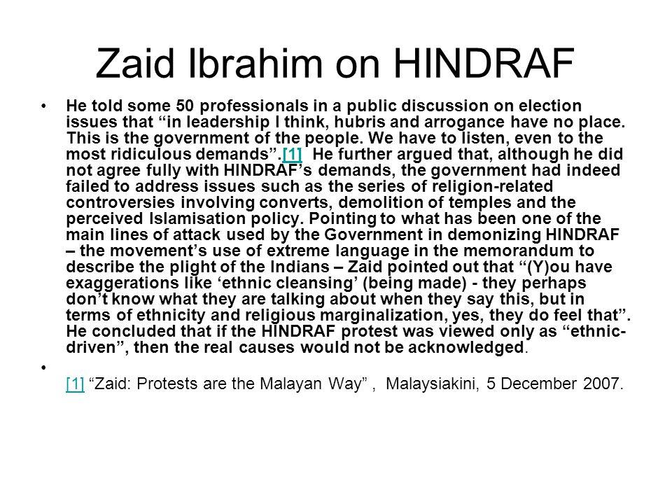 Zaid Ibrahim on HINDRAF