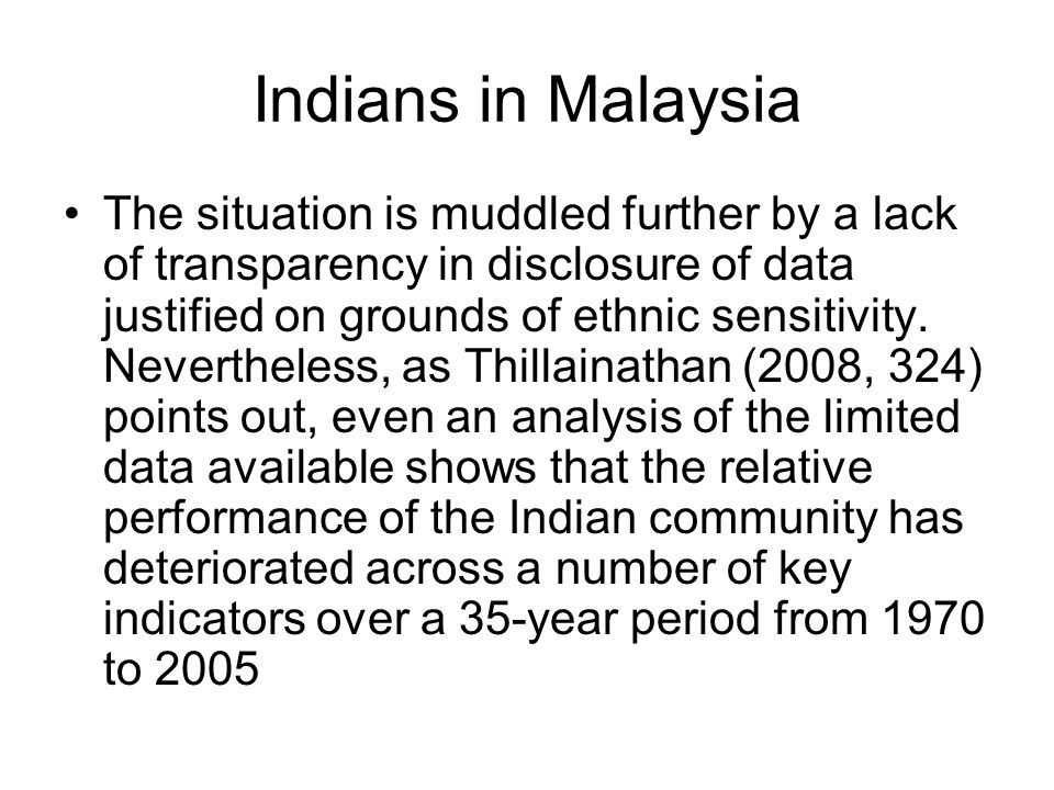 Indians in Malaysia
