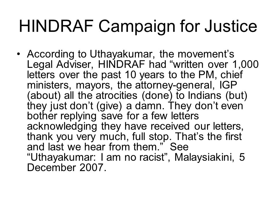 HINDRAF Campaign for Justice