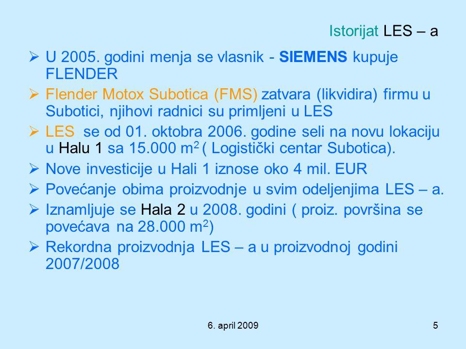 U 2005. godini menja se vlasnik - SIEMENS kupuje FLENDER