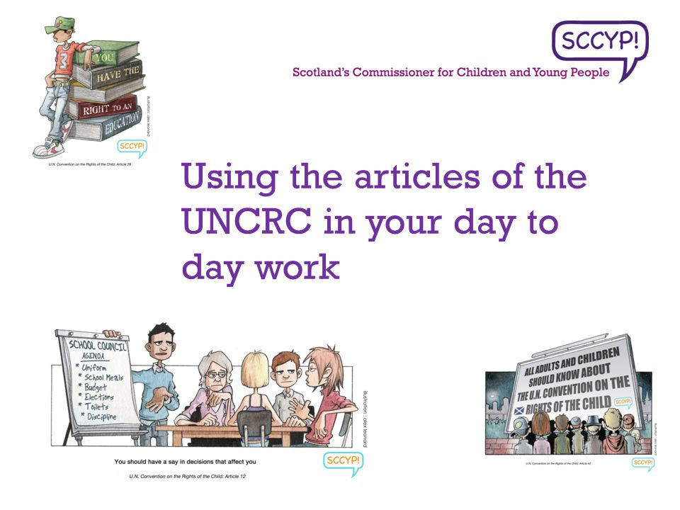 Using the articles of the UNCRC in your day to day work