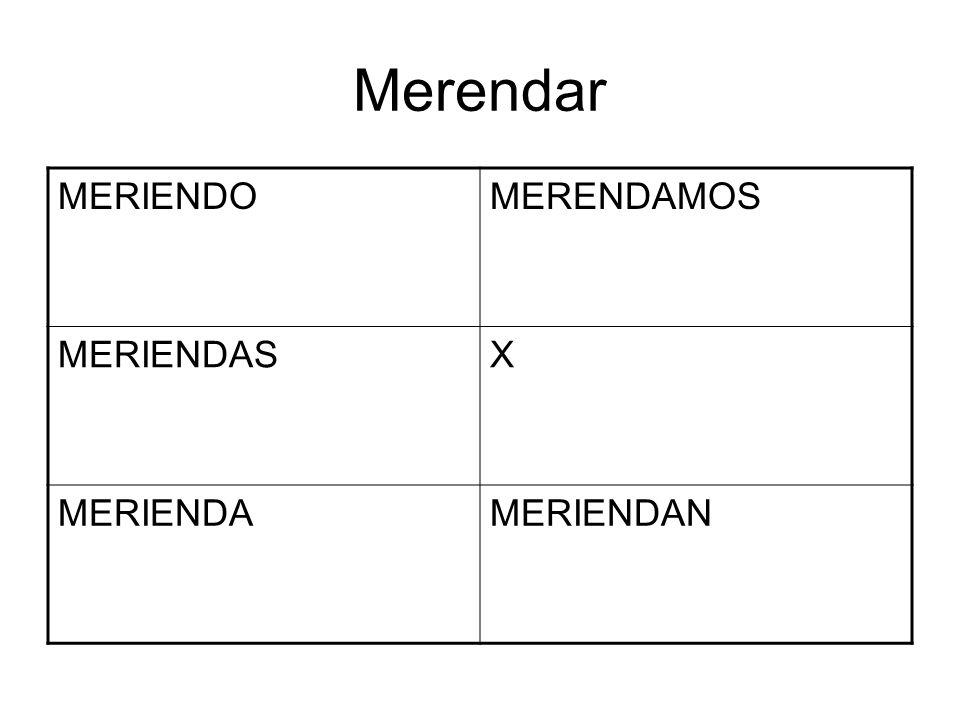 Merendar MERIENDO MERENDAMOS MERIENDAS X MERIENDA MERIENDAN