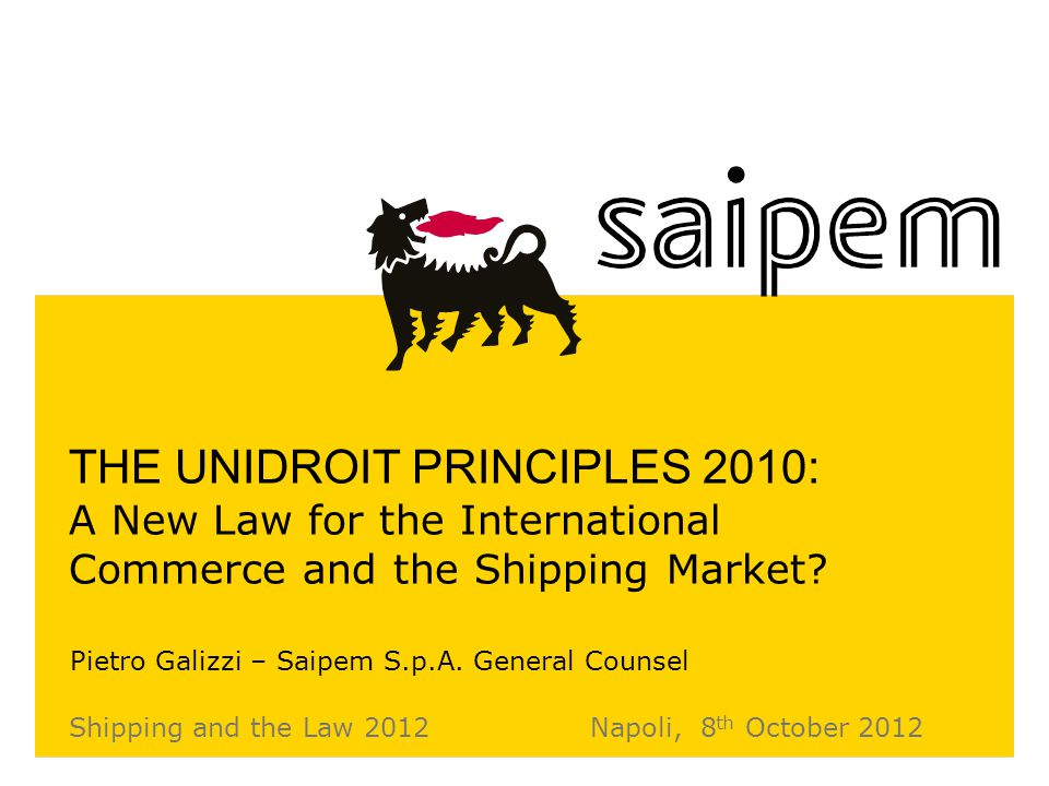 THE UNIDROIT PRINCIPLES 2010: