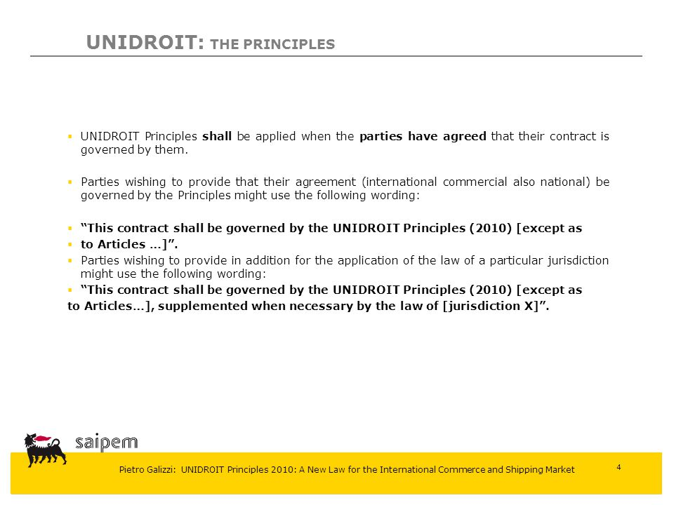 UNIDROIT: THE PRINCIPLES