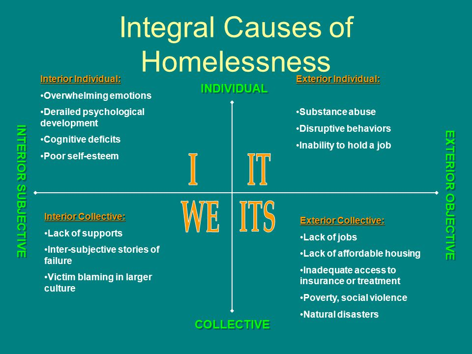 Integral Causes of Homelessness