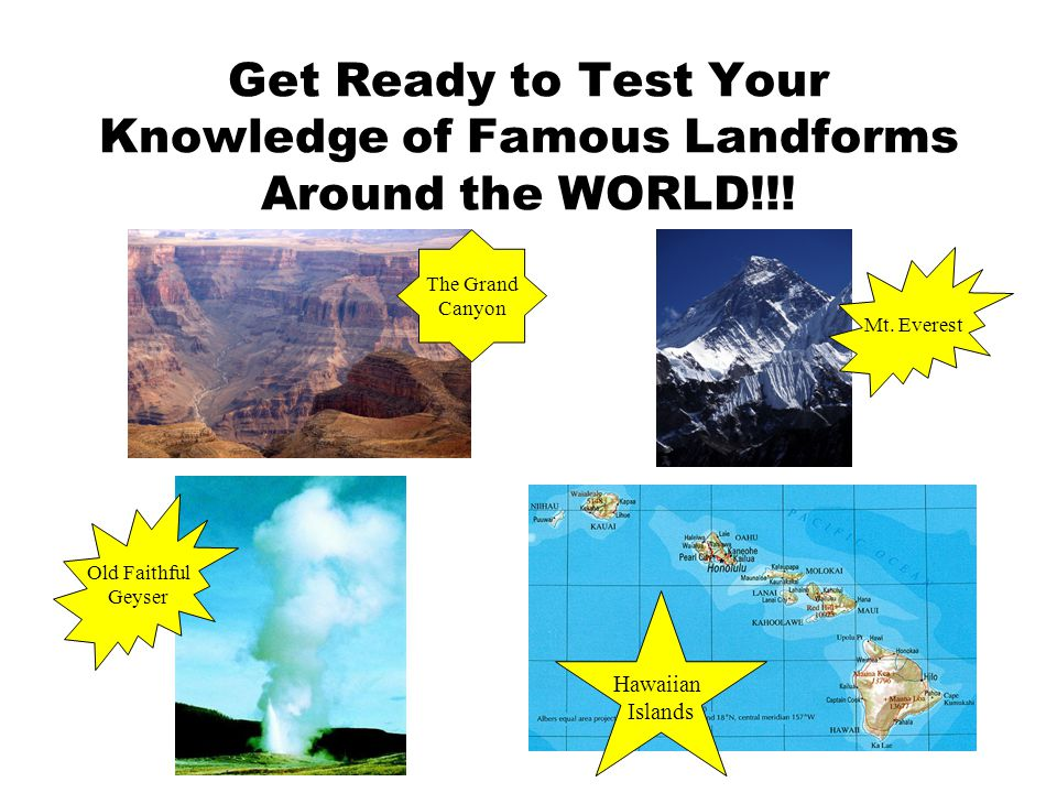 Get Ready to Test Your Knowledge of Famous Landforms Around the WORLD!!!