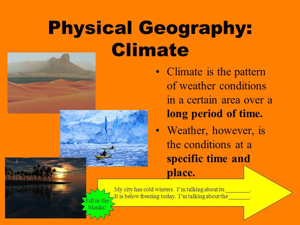 Physical Geography: Climate